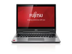 Fujitsu LIFEBOOK T904 premium selection - front view, branded screen