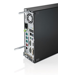 TeamPoS 7000 S-Series - back with mounting spacers & optional 2x port serial card
