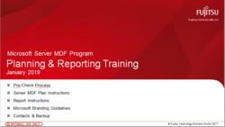 Microsoft Server MDF Training