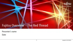 Fujitsu Corporate Presentation - Red Thread