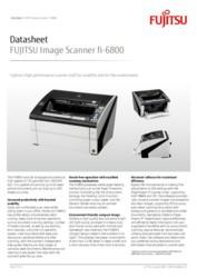 FUJITSU Image Scanner fi-6800 Datasheet