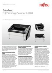 FUJITSU Image Scanner fi-6400 Datasheet