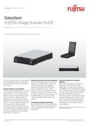 FUJITSU Image Scanner fi-65F Datasheet