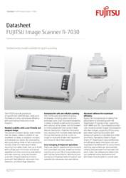 FUJITSU Image Scanner fi-7030 Datasheet