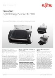 FUJITSU Image Scanner fi-7140 Datasheet