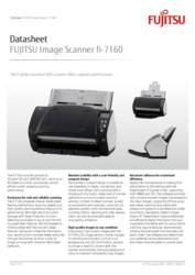 FUJITSU Image Scanner fi-7160 Datasheet