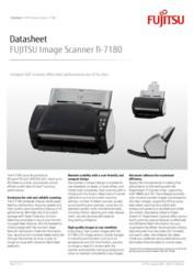 FUJITSU Image Scanner fi-7180 Datasheet