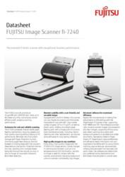 FUJITSU Image Scanner fi-7240 Datasheet