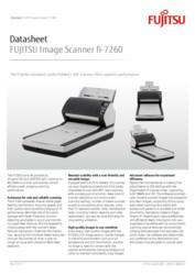 FUJITSU Image Scanner fi-7260 Datasheet