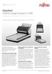 FUJITSU Image Scanner fi-7280 Datasheet