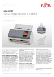 FUJITSU Image Scanner fi-7300NX Datasheet