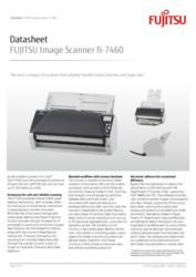 FUJITSU Image Scanner fi-7460 Datasheet