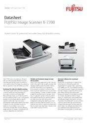 FUJITSU Image Scanner fi-7700 Datasheet