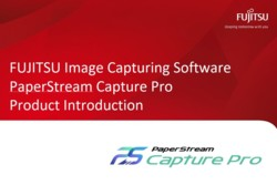 PaperStream Capture PRO Product Intro Slide Deck