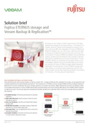Solution brief Fujitsu ETERNUS storage and Veeam Backup & Replication™