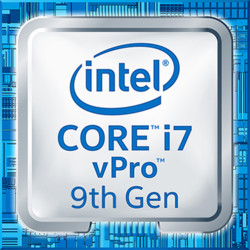 Intel i7 vPro 9th gen logo