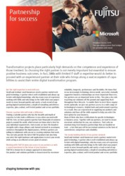 FUJITSU SMB  Flyer - Partnership For Success