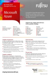 Microsoft Azure Managed Services flyer