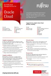 Oracle Cloud Managed Services flyer
