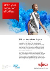 SAP on Azure flyer