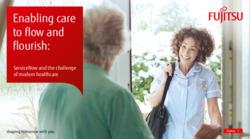 Fujitsu ServiceNow Spotlight on Healthcare