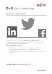 FUJITSU Tablet LIFEBOOK U9310X - Social Media Package