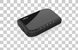 FUJITSU Accessory USB-C Hub 4 Ports - top, left, without plug