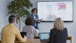 Education: Classroom with Teacher using LIFEBOOK Tablet