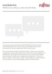 Social media posts: SAP HANA on PRIMEFLEX for VMware vSAN