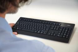 Man using keyboard