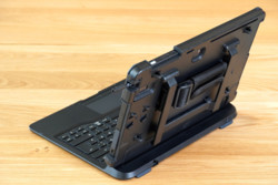 STYLISTIC Q7311 in Bump Case attached to Keyboard Dock - Back View