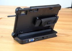 STYLISTIC Q5010 in TPU Cover with Cradle - Back View